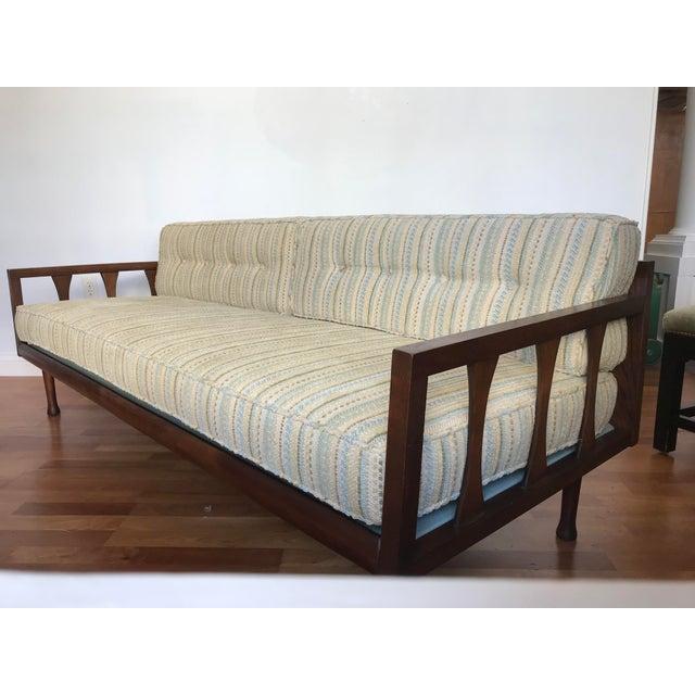 Mid-Century Modern Danish Modern Sofa Daybed Walnut MCM Selig Era Mid Century Modern For Sale - Image 3 of 13