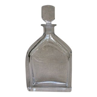 Mid-Century French Crystal Decanter For Sale