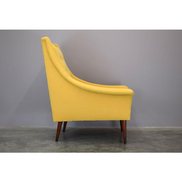 Refurbished Mid-Century Lounge Chair in Maharam Kvadrat Voyage - Image 4 of 7