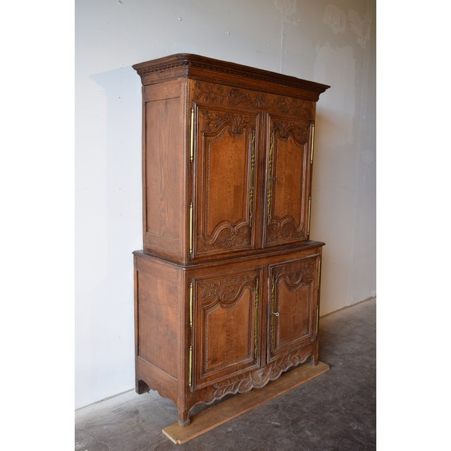 Gorgeous Antique French Oak Double Buffet, Circa 1860. This piece was acquired on our buying trip to Bordeaux, France in...