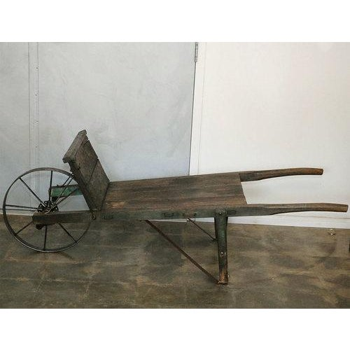Country New England Painted Wheelbarrow For Sale - Image 3 of 7