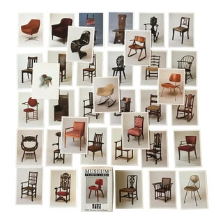 Iconic Chairs Museum Trading Cards - Eames, Panton, Stickley - 36 Pc Boxed Set For Sale