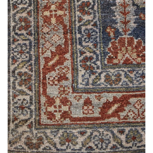 Textile Late 19th Century Handwoven Malayer Wool Rug For Sale - Image 7 of 10
