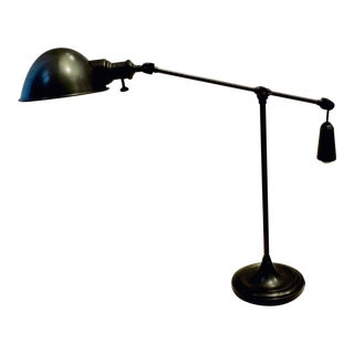 Industrial Charcoal Grey Articulating Lamp For Sale
