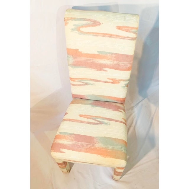 White Vintage Mid-Century Parsons Tufted Chairs - Set of 4 For Sale - Image 8 of 11