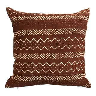 African Mudcloth Throw Pillow For Sale