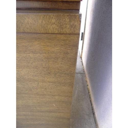 Brown Mid-Century James Mont Petite China Cabinet Hutch Server Sideboard For Sale - Image 8 of 11