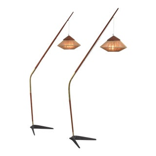 Svend Aage Holm Sørensen Pair of Floor Lamps, Denmark For Sale