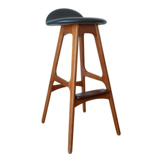 Mid-Century Modern Erik Buch Teak and Rosewood Barstool For Sale