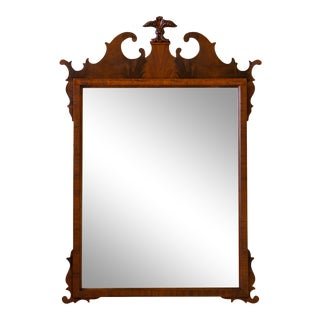 Flame Mahogany Chippendale Prince of Wales Mirror For Sale