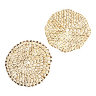 Vintage Shell Trivets - Set of 2