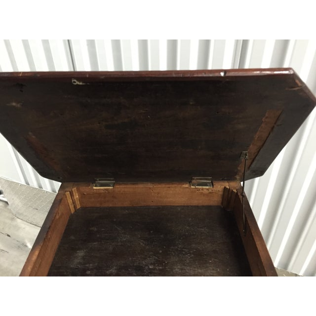 Antique Lift-Top Side Table For Sale - Image 5 of 8