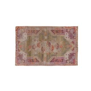 """1960s Vintage Khotan Rug-8'7"""" X 5'7"""" For Sale"""