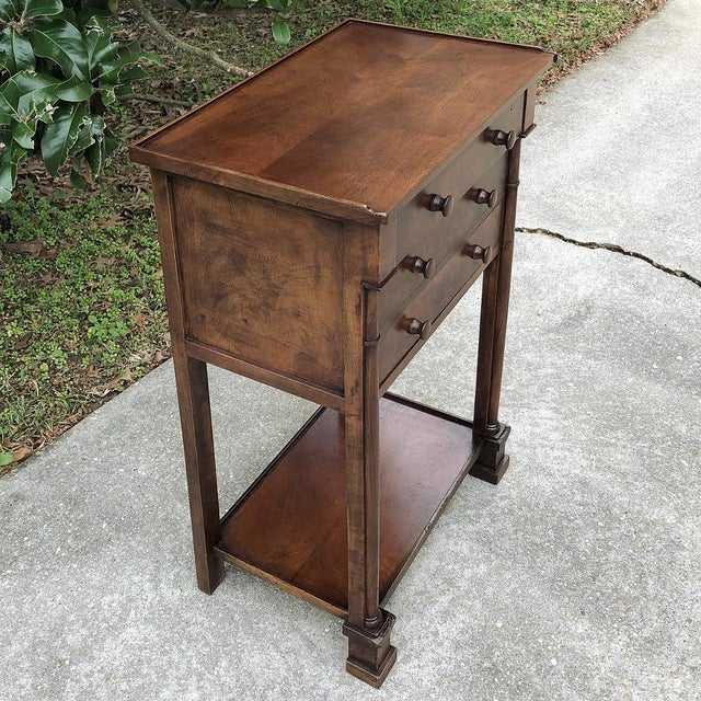 19th Century French Charles X Nightstand is an excellent example of the genre, with stately architecture and an intriguing...