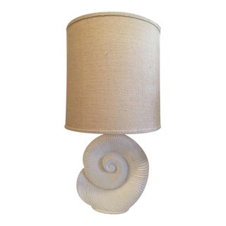 Plaster Nautilus Table Lamp For Sale