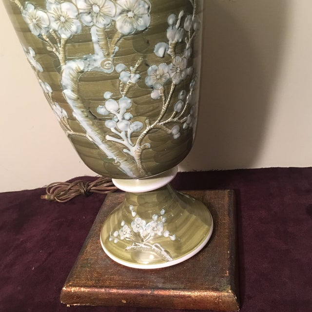 Green 1960s Mid-Century Chinoiserie Chilo Lamp For Sale - Image 8 of 8