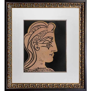 """1959 Pablo Picasso """"Tete De Femme"""" Linocut For Sale"""
