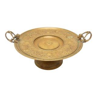 Antique French Bronze Tazza Card Receiver W Cherubs & Putti For Sale