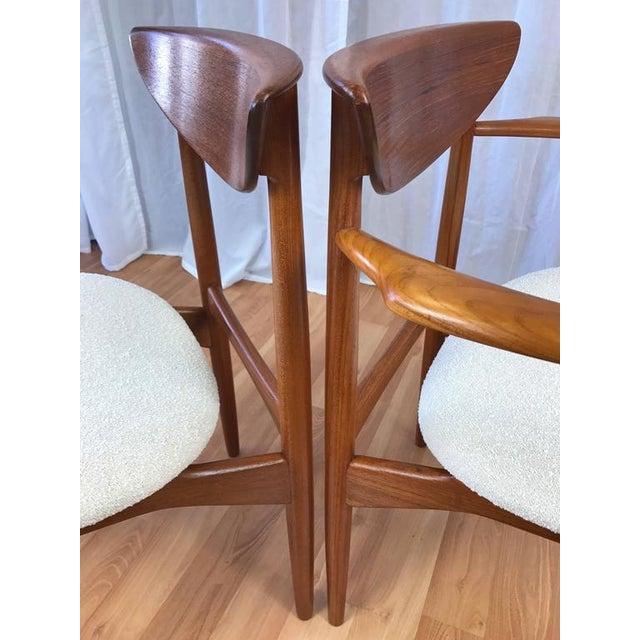 Set of 7 Uncommon Hvidt and Mølgaard-Nielsen Teak Dining Chairs for Søborg Møbelfabrik - Image 8 of 10