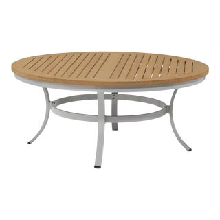 "48"" Round Outdoor Chat Table, Natural For Sale"