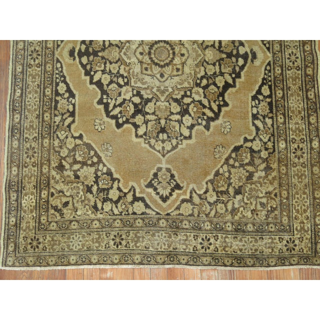 Mid-Century Modern Persian Tabriz Rug 3'10'' X 5'. For Sale - Image 3 of 6
