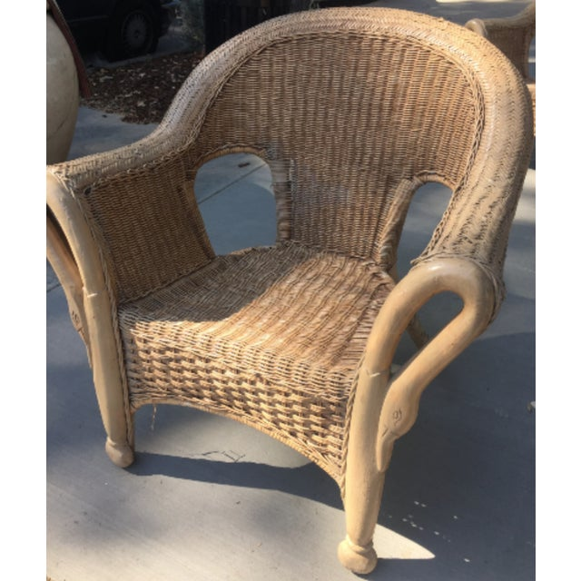 Vintage 1940s Wicker Carved Swan Chairs - A Pair - Image 3 of 9