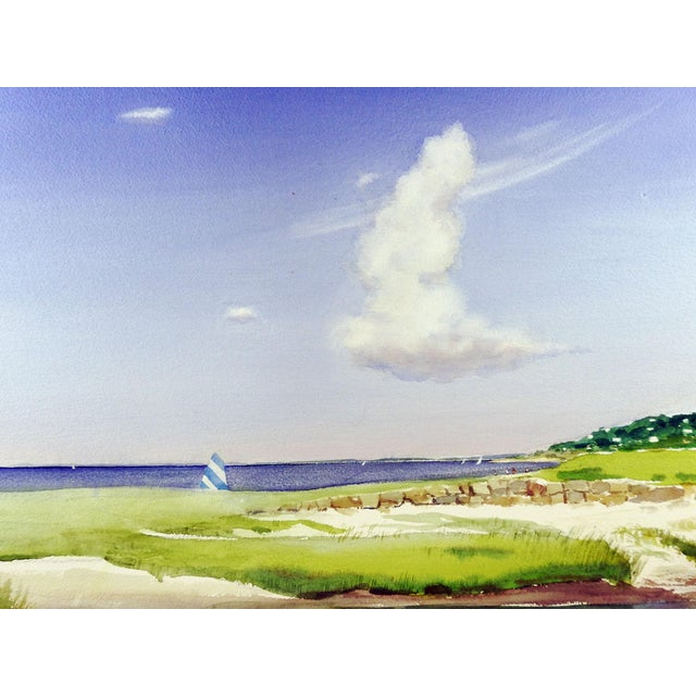 American Rock Beach, Cape Cod Watercolor Painting For Sale - Image 3 of 5
