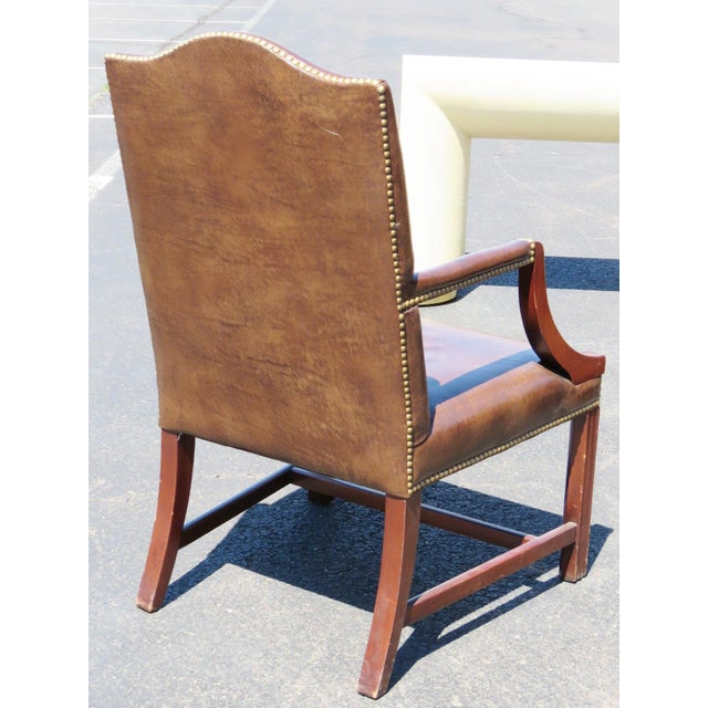 French Directoire Style Arm Chairs- A Pair For Sale - Image 3 of 3