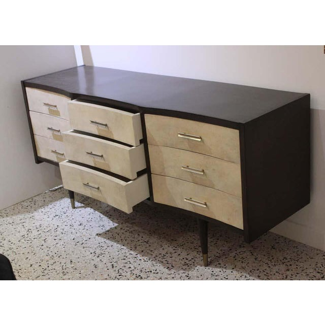 This stylish chest of drawers is very much in the style of pieces created by Gio Ponti in the mid-20th century. The piece...