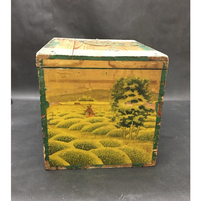 20th Century Japanese Tin Lined Tea Crate For Sale - Image 4 of 8