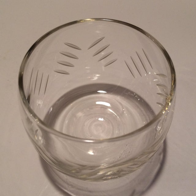 1930's Cut Crystal Roly Poly Glasses - Set of 7 For Sale In Sacramento - Image 6 of 11