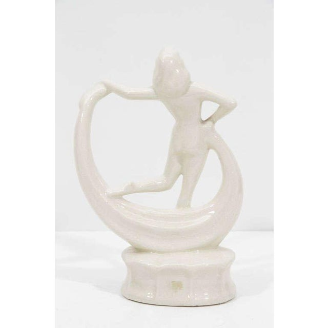 Mid 20th Century Art Deco Dancing Flapper Ceramic Sculpture For Sale - Image 5 of 7