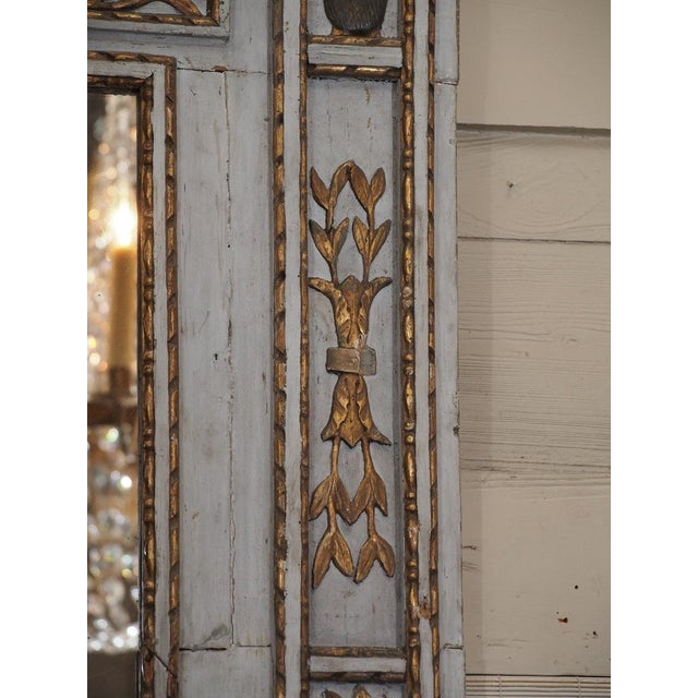 Wood 19th Century French Painted Mirror For Sale - Image 7 of 7