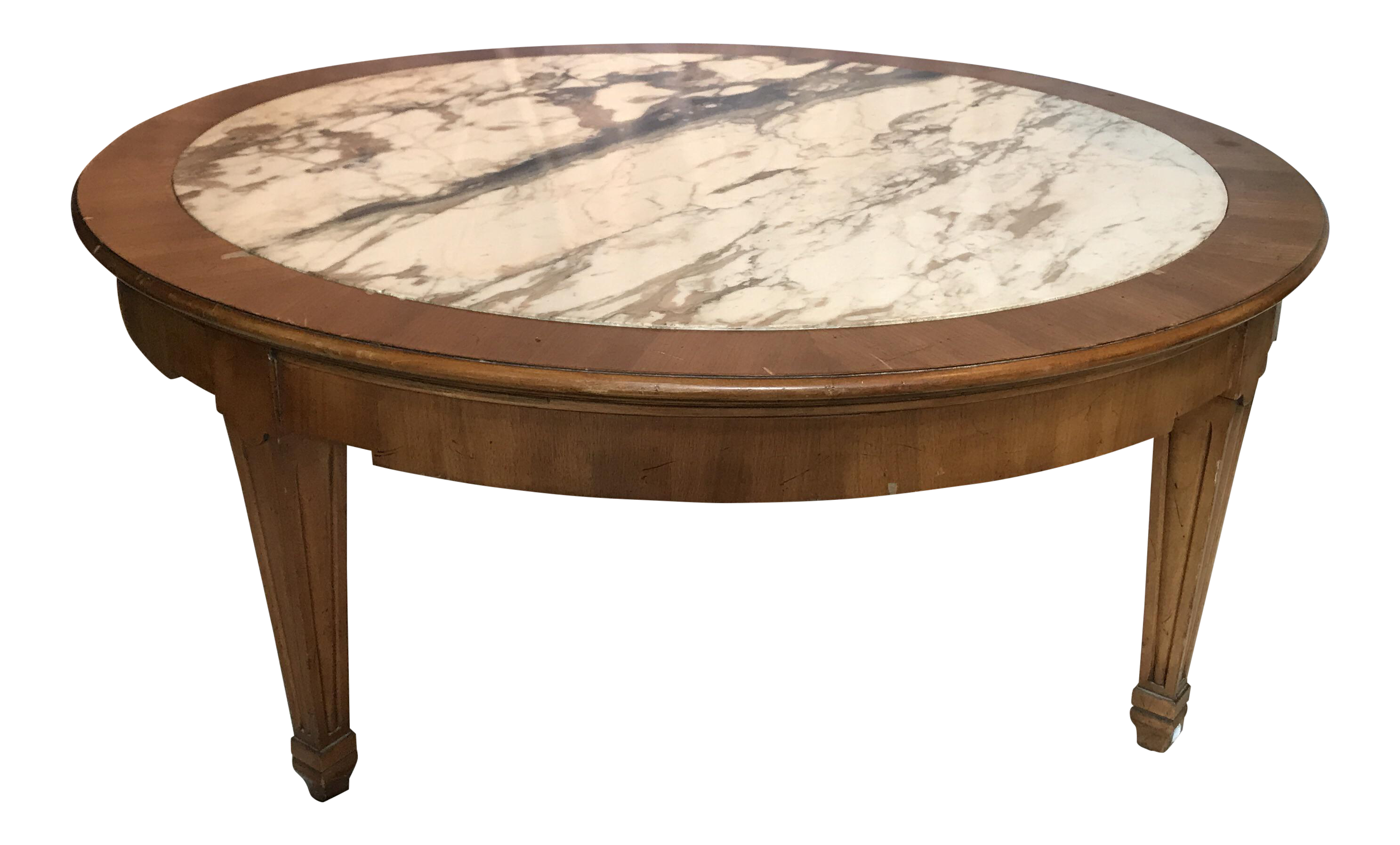 Mid Century Italian Marble Coffee Table For Sale