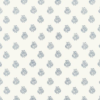 Sample - Schumacher Kaladera Wallpaper in Delft For Sale