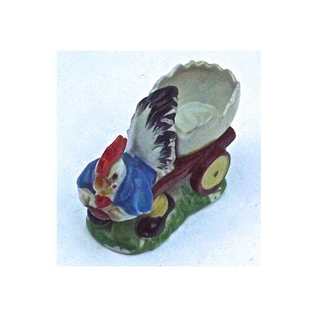Vintage Porcelain Chicken & Cart Egg Cup - Image 3 of 5