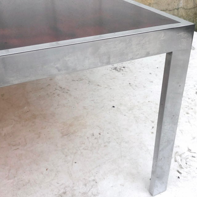 Vintage Modern Rosewood and Chrome Coffee Table For Sale - Image 9 of 13