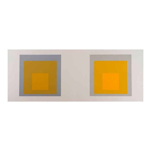 Josef Albers Homage to the Square Diptych Silkscreen For Sale