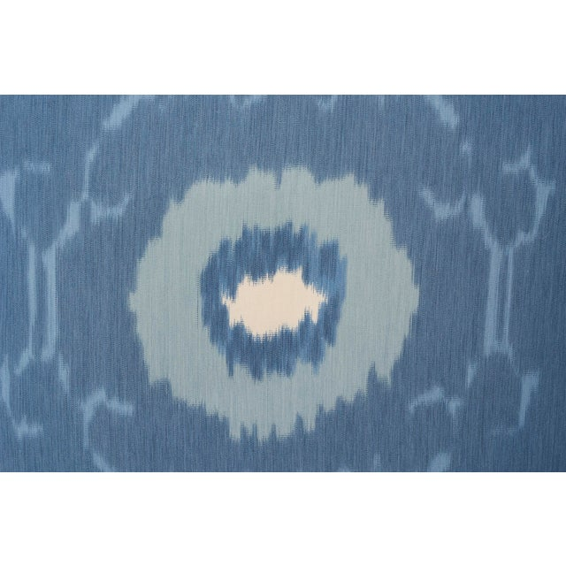 Boho Chic Schumacher Pillow in Samarkand Ikat Print For Sale - Image 3 of 6