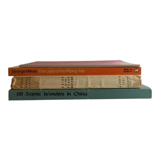 Vintage China Japan Prado Jaipur Softcover Books - Set of 4