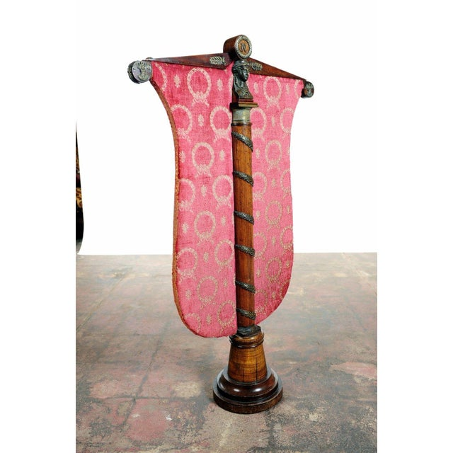 French French Napoleon Mahogany Fire Screen For Sale - Image 3 of 11