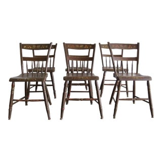 Vintage Mid Century Country Chairs- Set of 6 For Sale