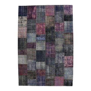 Vintage Purple Patchwork Persian Rug With Post-Modern Style, 11'00 X 16'03 For Sale