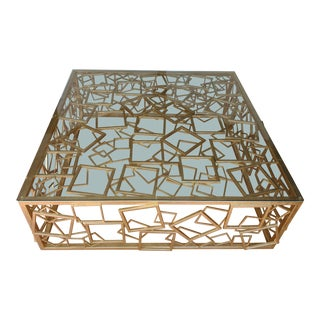 Modern Handcrafted Gold Coffee Table