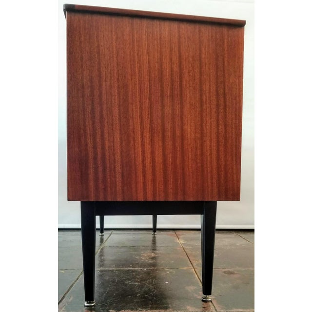 1960s Danish Modern Jentique Furniture Tola and Rosewood Credenza For Sale In San Diego - Image 6 of 12