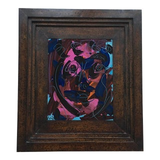 Peter Keil Abstract Face Framed For Sale