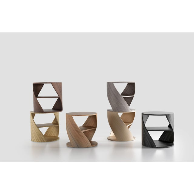 Contemporary Mydna Zebrano Decorative Side Table by Joel Escalona For Sale - Image 3 of 8
