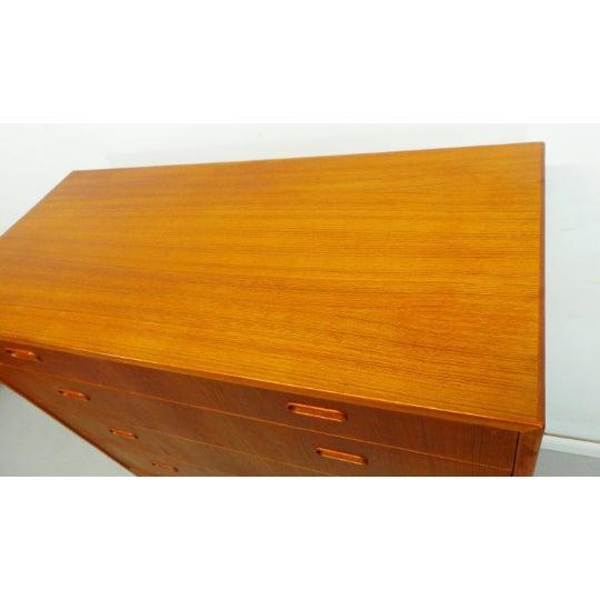 1960s 1960s Mid Century Danish Modern Teak Chest 5 Drawer Dresser by Falster For Sale - Image 5 of 9