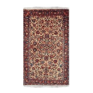 Mustard Wool Tabriz Rug- 3′6″ × 5′1″ For Sale