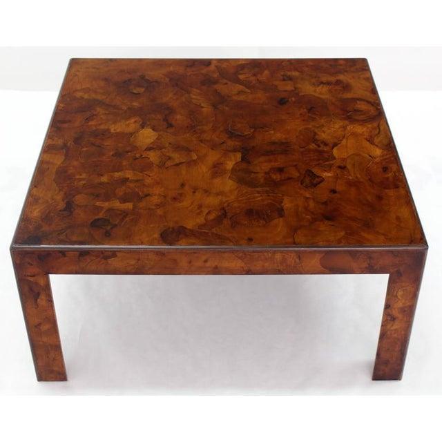 79cc482267fc Italian mid-century modern burl patch work mid-century modern square coffee  table on